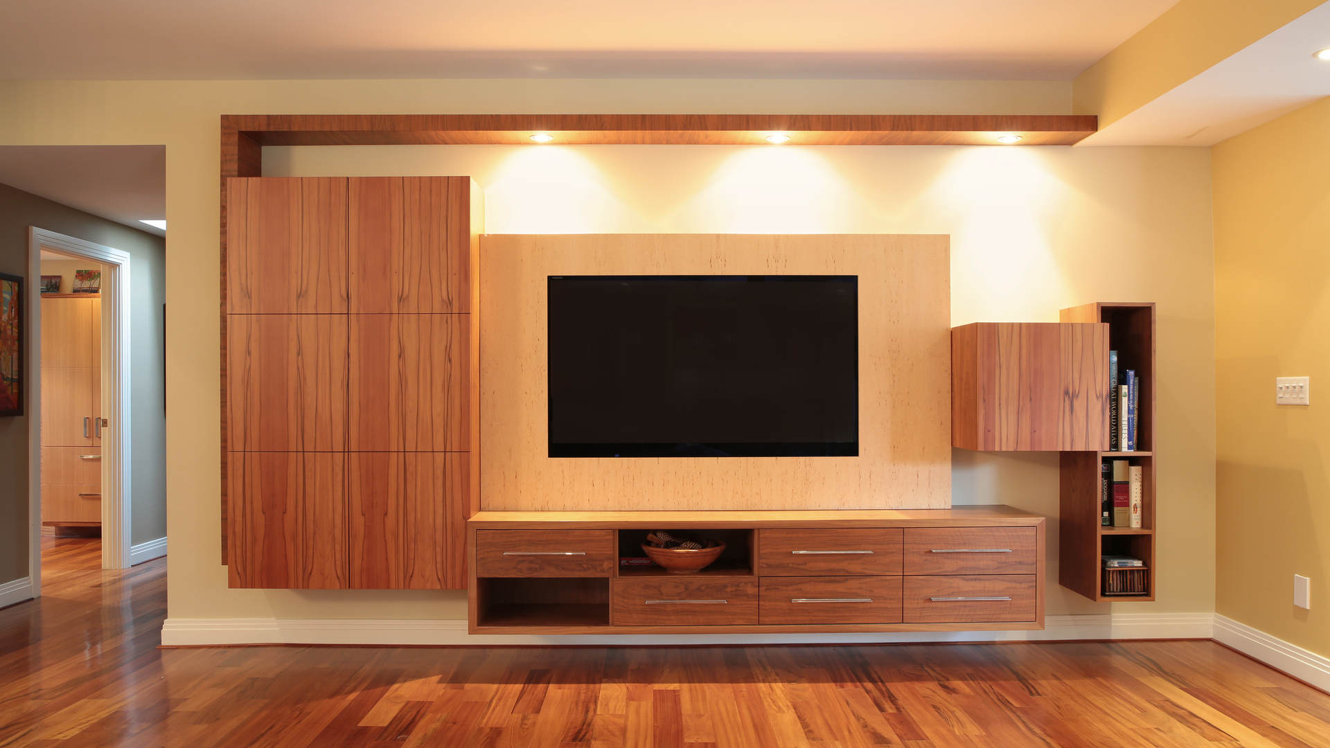 Custom Exotic Wood Veneering and Hot Press Work on Commercial / Residential Projects in Canada